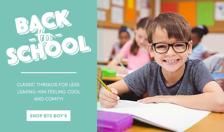 Save on Back to School for Boys