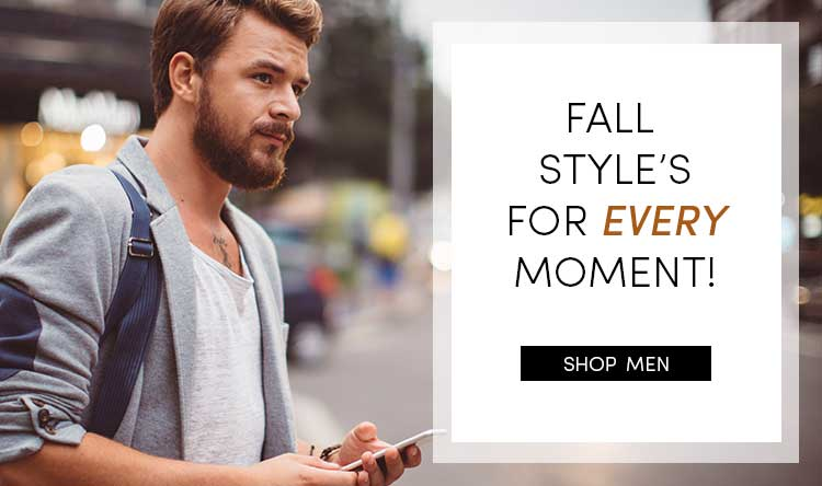 Save on Men's Fall Clothes