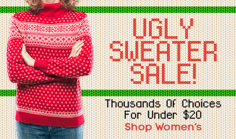 Ugly Sweater Sale for Her!
