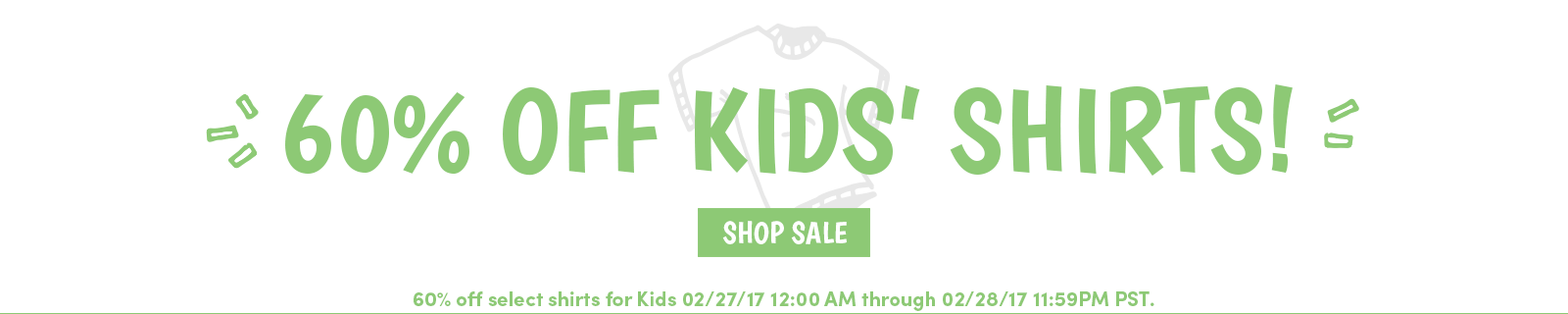 Kids' Shirts Sale 60 Percent Off